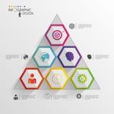 Абстрактное современное шестиугольное infographic цифровая иллюстрация 3d бесплатная иллюстрация