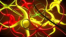 Абстрактное соединение нейрона Стоковые Изображения