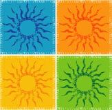 абстрактное солнечное иллюстрация вектора
