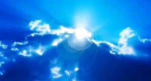 абстрактное солнце лучей облаков Стоковые Фотографии RF