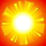 абстрактное солнце предпосылки иллюстрация штока