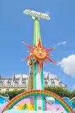Абстрактное солнце в Париже Стоковое Изображение