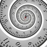 Абстрактное спиральное влияние фрактали часов, переплетенная шкала иллюстрация штока