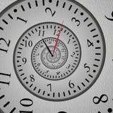 Абстрактное спиральное влияние фрактали часов, переплетенная шкала и оригинальный дизайн бесплатная иллюстрация