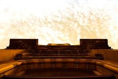 абстрактное стародедовское здание Стоковые Фотографии RF