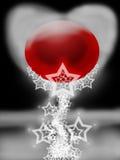 абстрактное стеклянное красное вино Стоковое Фото