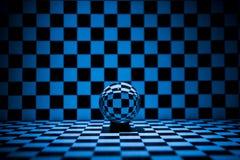 абстрактное стекло шарика предпосылки 3d Стоковые Фото