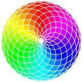 Абстрактное стилизованное колесо радуги Стоковое Изображение RF