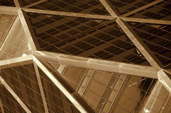 абстрактное строя windown manhattan Стоковое Изображение RF