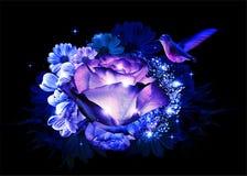 Абстрактное сюрреалистическое искусство цветка стоковое изображение rf