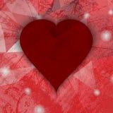 Абстрактное темное сердце grunge сбор винограда бумаги орнамента предпосылки геометрический старый Стоковое фото RF