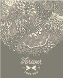 Абстрактное украшение, карточка приглашения с богато украшенным детальным орнаментом шаблон рамки конструкции карточки Полезный д Стоковое Изображение