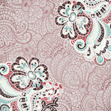 Абстрактное украшение, карточка приглашения с абстрактными цветками Стоковое Изображение