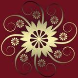абстрактное украшение флористическое Стоковые Фотографии RF