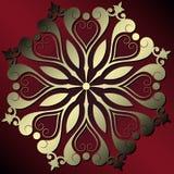 абстрактное украшение флористическое Стоковые Изображения RF