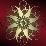 абстрактное украшение флористическое Стоковая Фотография