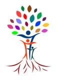 абстрактное фамильное дерев дерево Стоковое Изображение