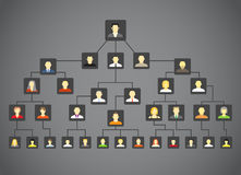 абстрактное фамильное дерев дерево Стоковые Изображения