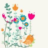 абстрактное флористическое приветствие иллюстрация штока
