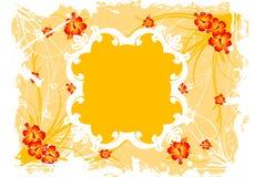 абстрактное флористическое grunge рамки Стоковая Фотография RF