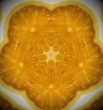 Абстрактное фото апельсина мандалы Стоковое Фото