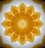 Абстрактное фото апельсина мандалы Стоковые Изображения RF