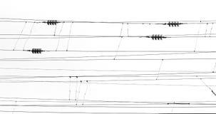 Абстрактное фото проводов поезда в черно-белом фото Стоковые Фотографии RF