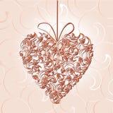 Абстрактное флористическое сердце Стоковое Изображение