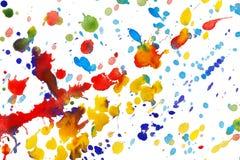 абстрактное цветастое брызгает акварель Стоковые Фото
