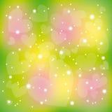 абстрактное цветастое Валентайн звезд сердец яркия блеска Стоковые Фото