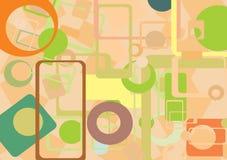 абстрактное цветастое геометрическое иллюстрация штока