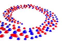 Абстрактное цветастое спиральн знамя Стоковое Изображение RF