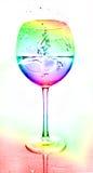 абстрактное цветастое стекло Стоковые Изображения
