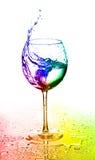 абстрактное цветастое стекло Стоковая Фотография RF