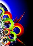 абстрактное цветастое grunge элементов Стоковое Изображение RF