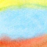 Абстрактное цветастое watercolorbackground Стоковые Изображения RF