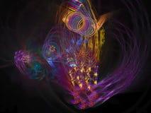 Абстрактное цифровое будущее стиля элегантности предпосылки фрактали уникально бесплатная иллюстрация