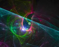 Абстрактное цифровое влияние стиля фрактали живое, художественный, элегантность, динамика иллюстрация вектора