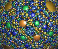 Абстрактное цифровое произведение искысства Картина фрактали сферически иллюстрация штока