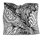 Абстрактное черно-белое zentangle стоковые фотографии rf