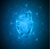 Абстрактное человеческое сердце шестерней иллюстрация штока