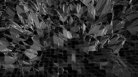 Абстрактное чистое черно-белое низкое поли развевая 3D поверхностное как загипнотизируйте окружающая среда Серая геометрическая в бесплатная иллюстрация