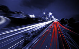 Абстрактное шоссе к ноча стоковые изображения