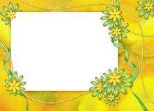 абстрактное backgr цветет белизна рамки Стоковое Фото