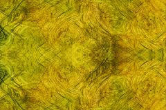 Абстрактное backgroud желтого коричневого цвета grungy с текстурой Стоковое Фото