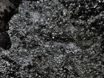 Абстрактное backround пузырей в воде с черным backround Стоковые Изображения