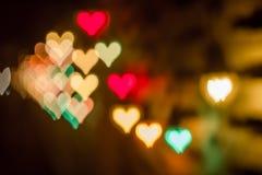 Абстрактное backround bokeh сердца счастливого li Нового Года или рождества Стоковые Изображения