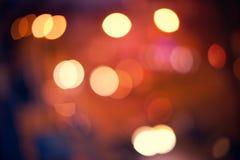 абстрактное bokeh предпосылки Ноча праздника Стоковая Фотография
