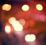абстрактное bokeh предпосылки Ноча праздника Стоковое Изображение
