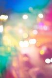абстрактное bokeh предпосылки Ноча праздника Стоковая Фотография RF